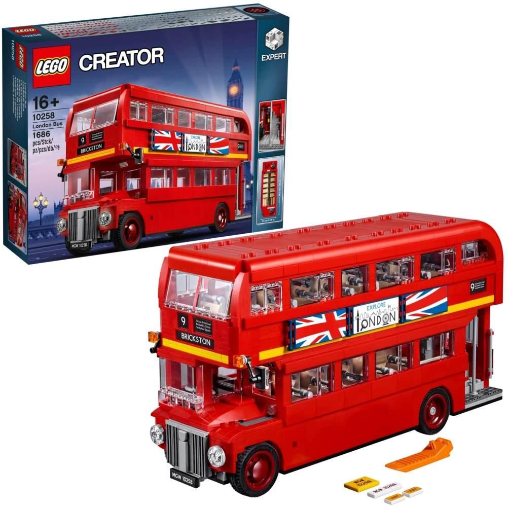 LEGO Creator Expert 10258 'Londoner Bus', 1686 Teile, ab 16 Jahren, Doppeldeckerbus mit authentischen Details Bild 1