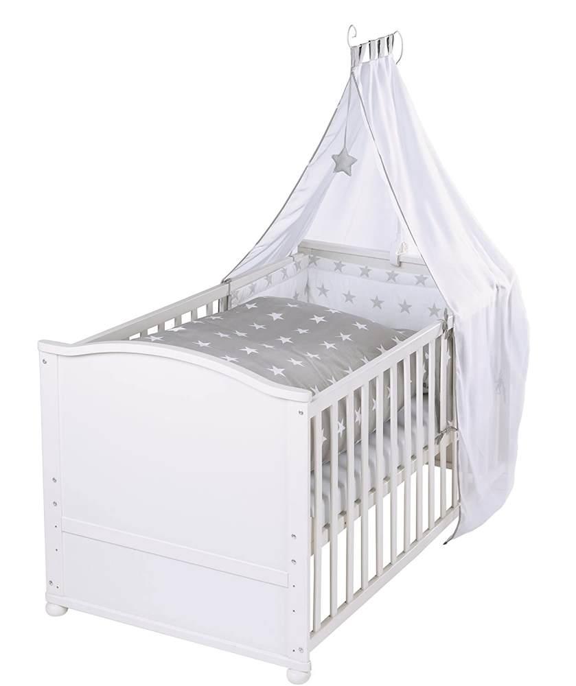 Roba 'Lukas' Kombi-Kinderbett weiß, 70 x 140 cm, inkl. Matratze und Ausstattung 'Little Stars' Bild 1