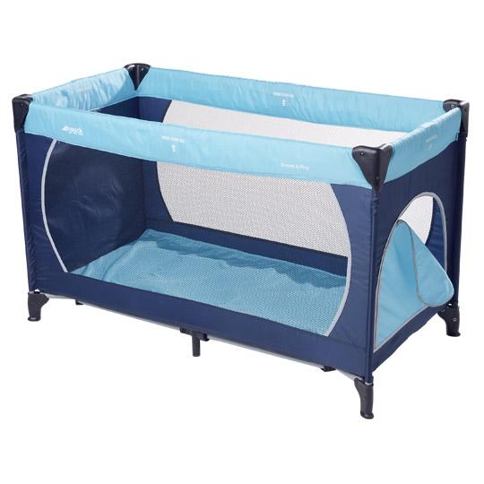 Hauck 'Dream'n Play Plus' Reisebett 3-teilig navy/sand/lightblue, 60 x 120 cm, ab Geburt bis 15 kg, inkl. Tragetasche, Einlageboden und Schlupf Bild 1