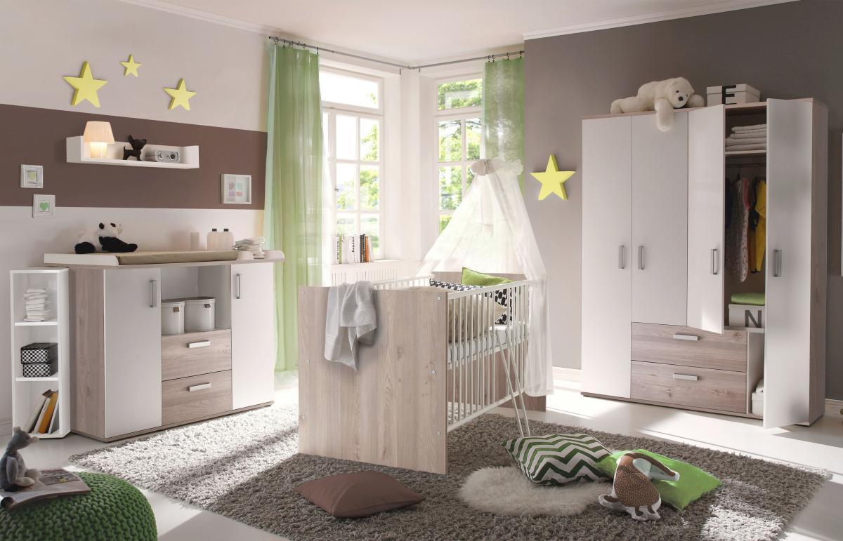 Storado 'Sydney' 5-tlg. Babyzimmer-Set nelson eiche Bild 1