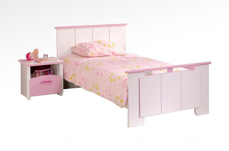PARISOT 'Biotiful' Kinderbett Weiß / Rosa inkl Matratze Bild 1