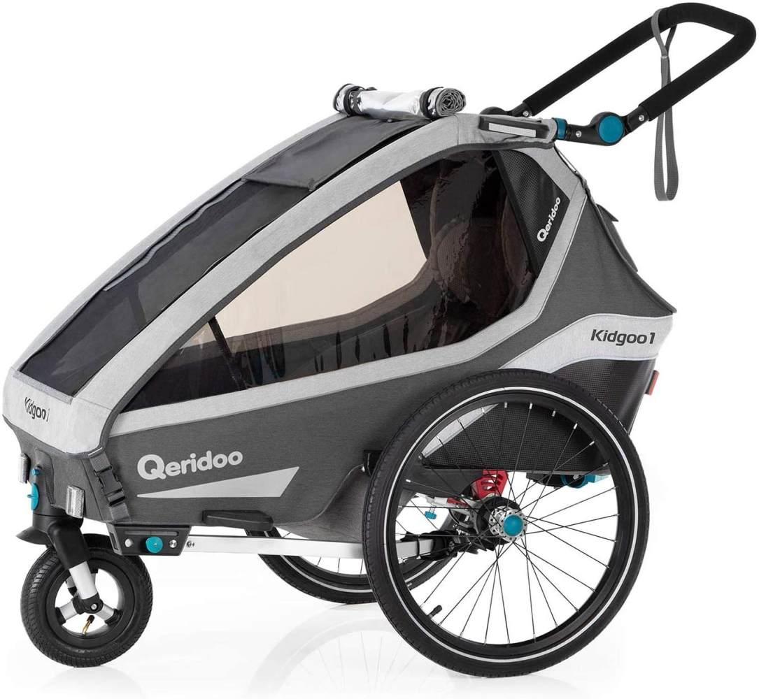 Qeridoo 'Kidgoo1' Fahrradanhänger 2020, Grau, 1-Sitzer Bild 1