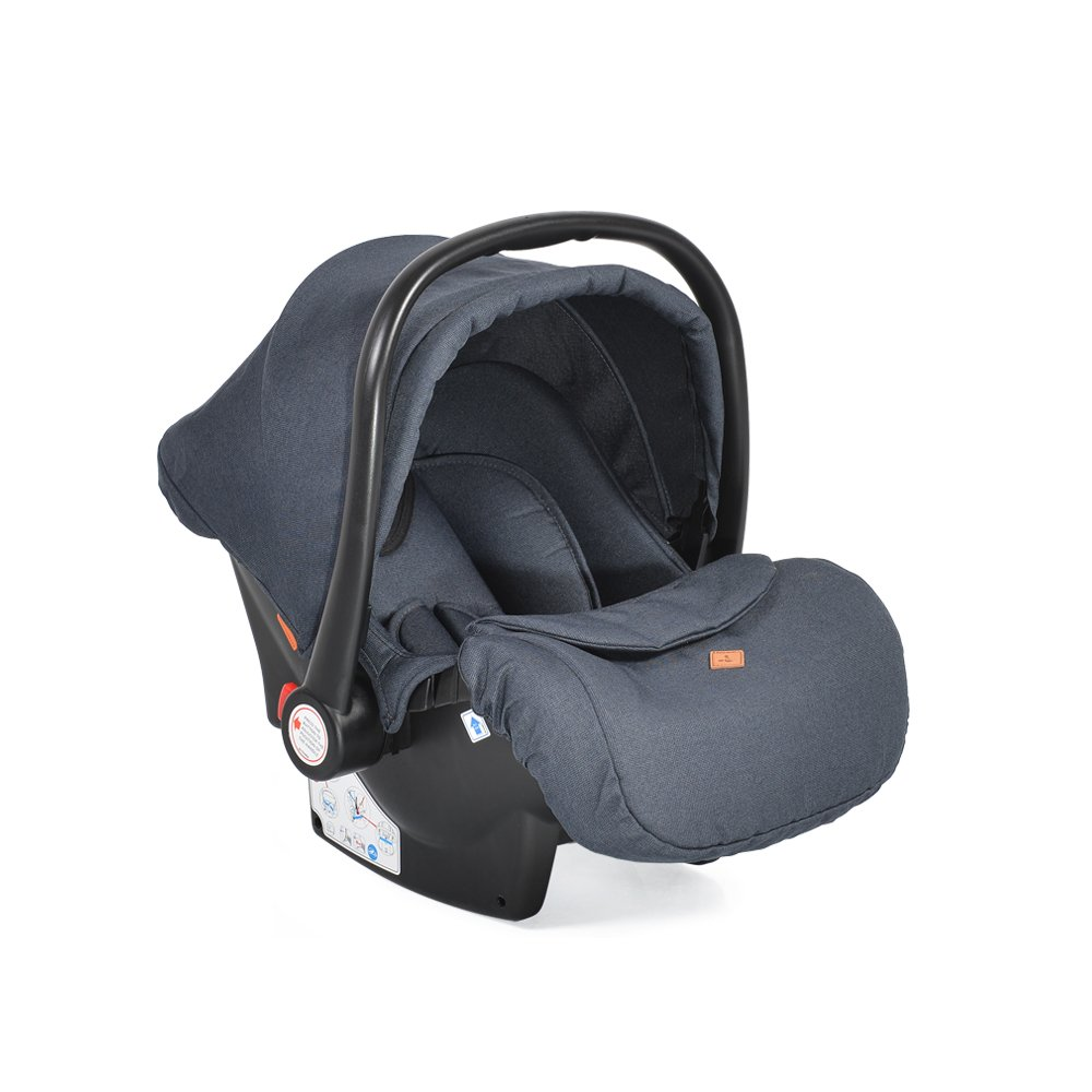 Cangaroo Babyschale Kindersitz Macan Gruppe 0+ (0 - 13 kg) Fußabdeckung Kissen blau Bild 1