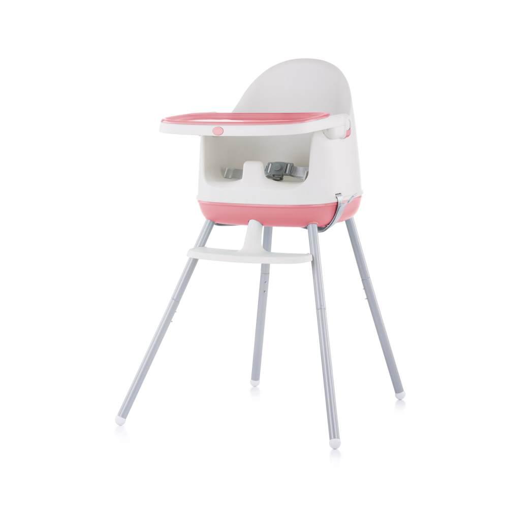 Chipolino Hochstuhl 3 in 1 Pudding Sitzerhöhung, Tablett, Fußstütze, Kinderstuhl rosa Bild 1