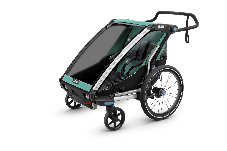 Thule 'Chariot Lite 2' Fahrradanhänger 2-Sitzer inkl. Babysitz Bild 1