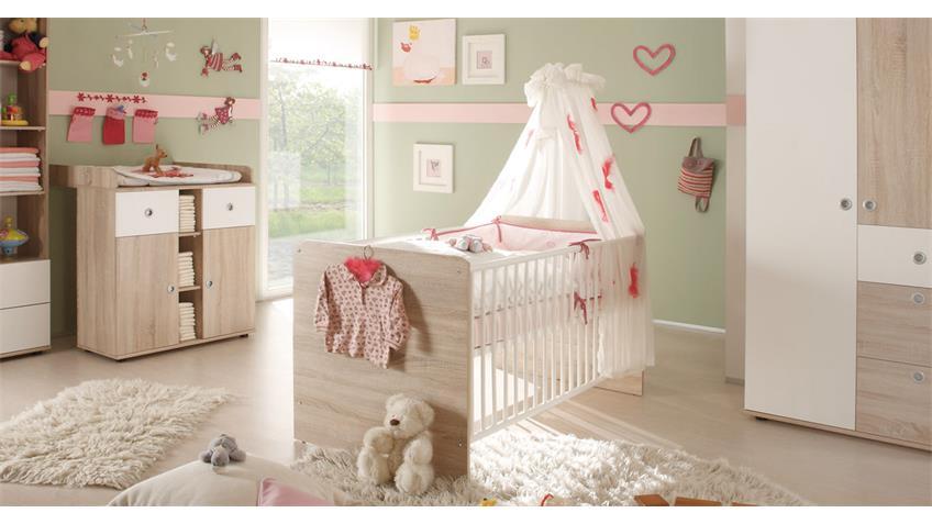 Carry Direkt Babyzimmer Game Babybett 70x140 Sonoma Weiß Bild 1