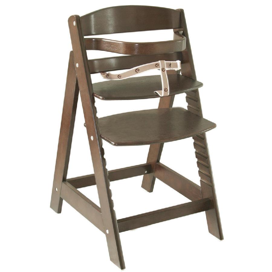 Roba 'Sit Up III' Treppenhochstuhl, braun, höhenverstellbar, mit Sicherheitsbügel und Gurtsystem, bis 50 kg belastbar Bild 1