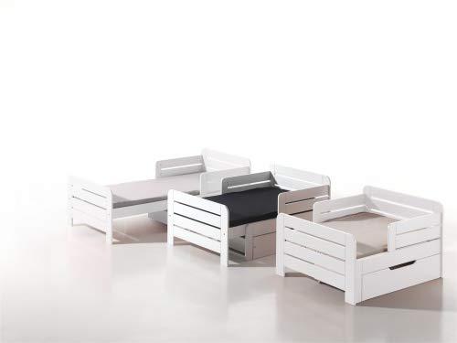Vipack 'Jumper' mitwachsendes Kinderbett weiß 90x140/200cm Bild 1