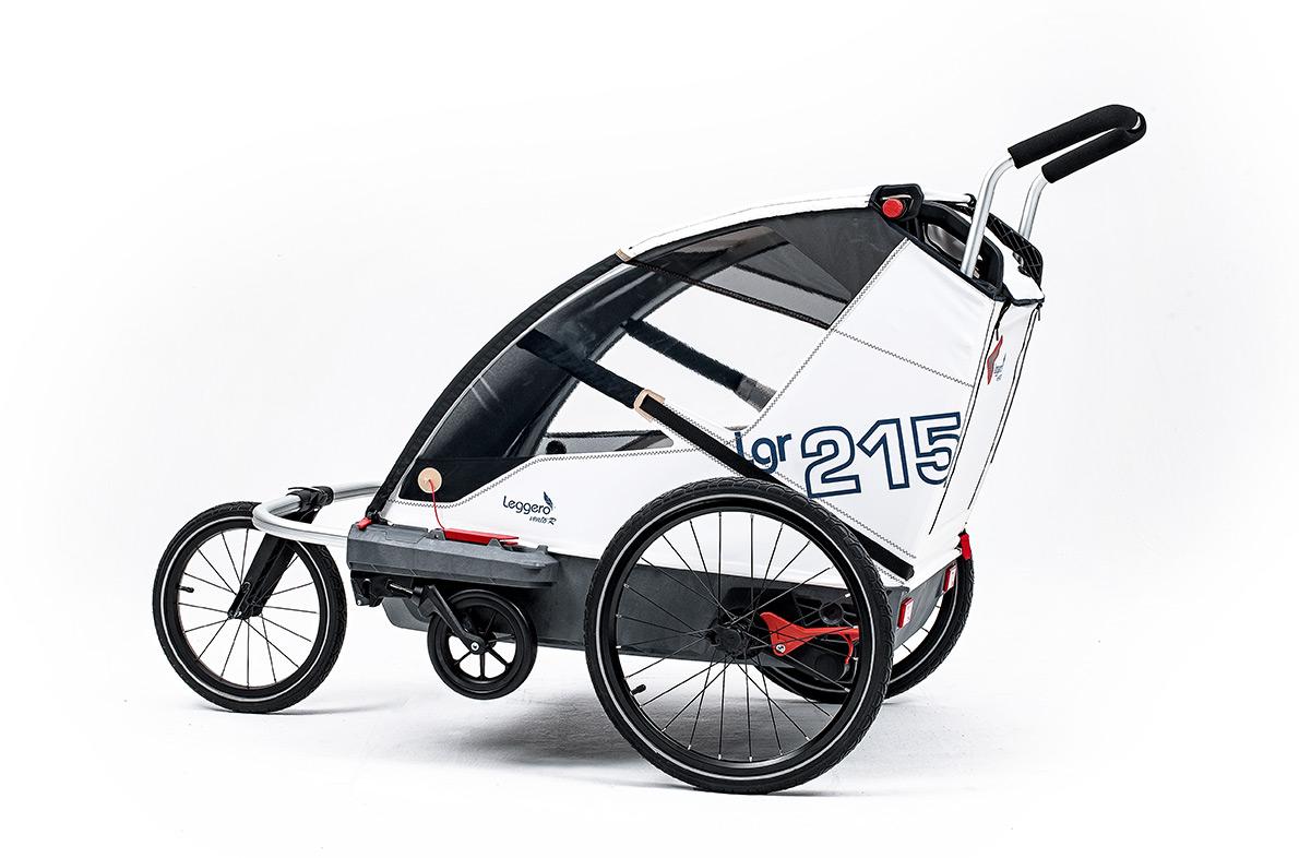 Leggero 'Vento R Active' Fahrradanhänger Sail, 2-Sitzer inkl. Jogger- & Buggyset Bild 1