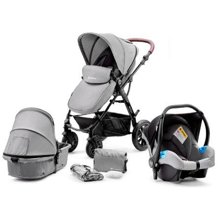 Kinderkraft 'Moov' Kombikinderwagen 3 in 1 Grey, inkl. Babywanne, Babyschale, Fußsack, Wickeltasche, Insekten - und Regenschutz Bild 1