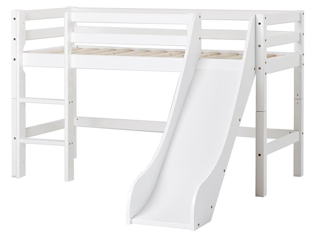 Hoppekids 'Basic' Halbhochbett weiß, 70x160cm Bild 1