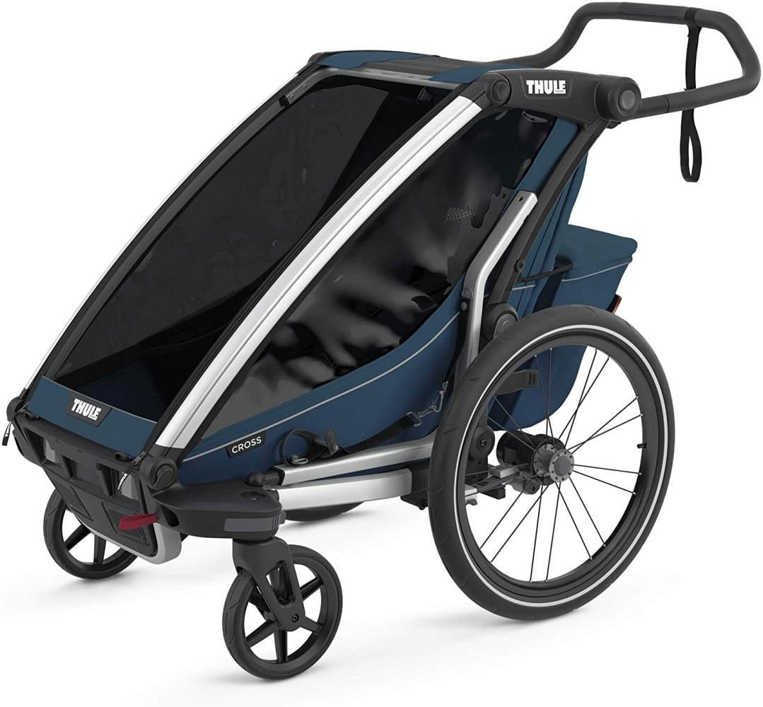 Thule 'Chariot Cross 1' Fahrradanhänger 2021 Majolica Blue, 1-Sitzer Bild 1