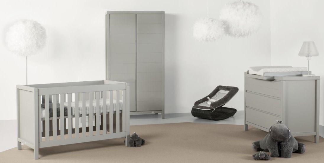 Quax 'Stripes' 3-tlg. Babyzimmer Griffin Grey 60x120 cm, 2-Türig Bild 1