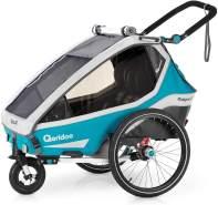 Qeridoo 'Kidgoo2' 2020 Petrol, 2-Sitzer inkl. Kupplung und Buggyrad
