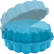 DUBLINO 'Sand/Wassermuschel', 2-teilig, Maße 87,5 x 79,2 x 21 cm, blau