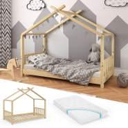 VitaliSpa 'Design' Hausbett Natur, 80x160 cm mit Matratze
