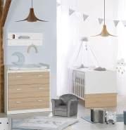 Roba 'Gabriella' 2-tlg. Kinderzimmerset natur/weiß inkl. Kinderbett und Kommode (klein)