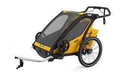 Thule 'Chariot' Fahrradanhänger Set + Thule Babysitz Sport 1 Spectra Yellow