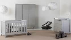 Quax 'Stripes' 3-tlg. Babyzimmer-Set Griffin Grey 3-Türig