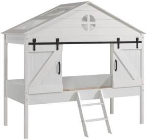 Vipack 'Barnie' Hausbett 90 x 200 cm, ohne Lattenrost, Weiß lackiert