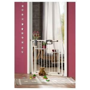 Geuther Tür- und Treppenschutzgitter, für Türbreiten 68 - 76 cm, Klemmbefestigung, Weiß