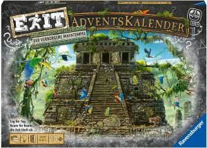 Ravensburger 18956 'EXIT Adventskalender - Der verborgene Mayatempel', mit 47 Rätselkarten, ab 10 Jahren