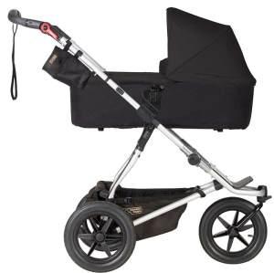 Mountain Buggy 'Urban Jungle 3' Kombikinderwagen Black mit Babyschale in Soho Grey