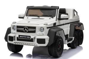 Kidcars 'Mercedes Elektroauto G63 XXL 2019' für Kinder und Erwachsene, sechs Motoren, weiß, maximal belastbar bis 120 kg, mit toller Ausstattung und vielen Funktionen