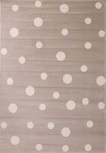 VIMODA Punkte Teppich 120 x 170 cm beige/weiß