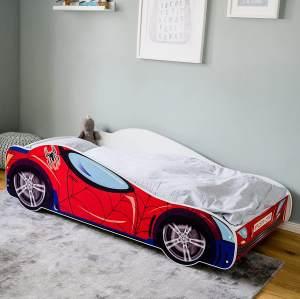Kids Collective 'Spider' Autobett 80x160 mit Matratze und Lattenrost