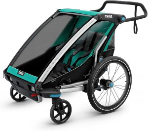 Thule 'Chariot Lite' Fahrradanhänger 2020 Blue Grass/Black, 2-Sitzer