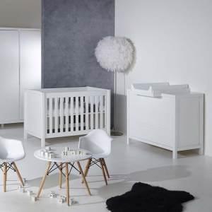 Quax 'Stripes White' 3-tlg. Babyzimmer-Set 70x140 cm, 2-Türig