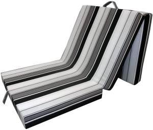 VitaliSpa 'Triopac' Klappmatratze/Reisebett 70x190 cm, Schwarz/Weiß