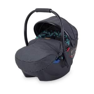Lorelli Babyschale Rimini Gruppe 0+ (0-13 kg), weiches Kopfkissen, Fußabdeckung schwarz