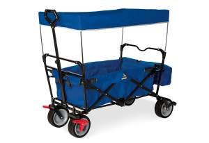 Pinolino 'Paxi dlx Comfort' Klappbollerwagen in Blau, inkl. Feststellbremse, Sonnendach, Hecktasche