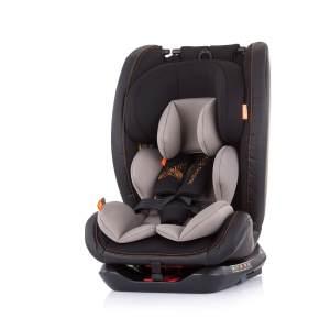 Chipolino Kindersitz Techno Gruppe 0+/1/2/3 (0 - 36 kg) Isofix, 360 Grad drehbar beige/braun