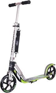 Hudora 14695 'Big Wheel 205' Scooter, ab 6 Jahren, höhenverstellbar bis 104 cm, klappbar, max. belastbar bis 100 kg, grau/grün