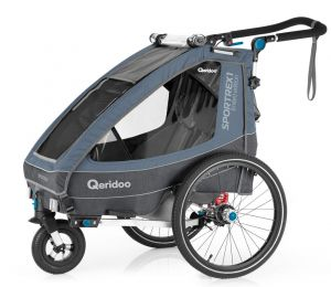Qeridoo 'Sportrex1' Fahrradanhänger 2020/21, Grau Limited Edition, 1-Sitzer