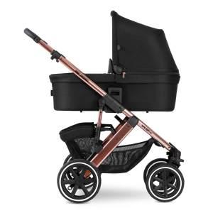 ABC Design 'Salsa 4 Air' Kombikinderwagen 3 in 1 Rose Gold Diamond Edition inkl. Sportsitz, Babywanne, Cybex Cloud Z Babyschale Soho Grey