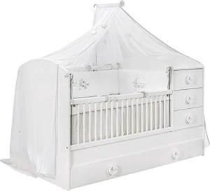 Cilek 'BABY COTTON' Kombi-Kinderbett weiß mit Matratze