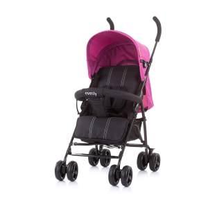 Chipolino Kinderwagen Buggy Everly, Rückenlehne verstellbar, Korb, klappbar pink