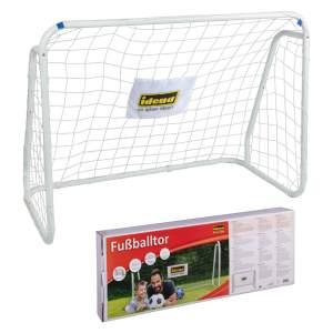 Idena 40099 'Fußballtor mit Netz', 124 x 96 x 61 cm, aus Metall, schnelle Montage, ideal für Garten, Park, Strand oder Halle, ab 6 Jahren