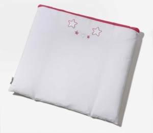EASY BABY Wickelauflage 75/85 abnehmbarer Bezug Stars pink