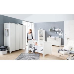 Schardt 'Milano' 2-tlg. Babyzimmer-Set weiß, inkl. Kinderbett und Wickelkommode
