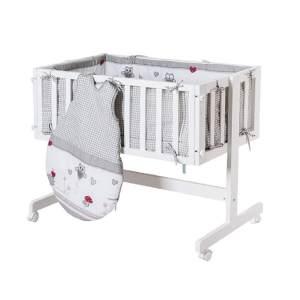 Roba 'Room & Cradle' Beistellbett weiß, inkl. Ausstattung 'Adam & Eule'