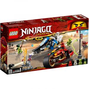 LEGO Ninjago - Kais Feuer-Bike und Zanes Schneemobil 70667
