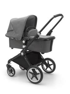 Bugaboo 'Lynx' Kinderwagen Set 3 in 1 inkl. Babyschale Cloud Z I-Size Schwarz / Grau Meliert Soho Grey