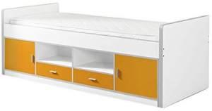 Vipack 'Bonny' Einzelbett weiß/orange
