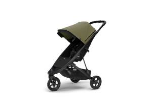 Thule 'Spring' Buggy 2020 schwarz inkl. Sonnendach Olive