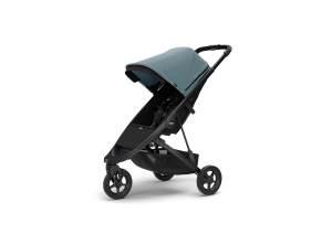 Thule 'Spring' Buggy Set 2020 inkl. Cybex Babyschale Soho Grey und Sonnendach Teal Melange